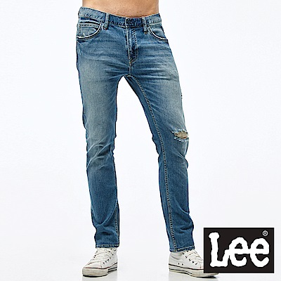 Lee 牛仔褲 706低腰合身窄管牛仔褲- 男款-藍