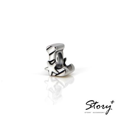 STORY故事銀飾-串珠墜飾-字母珠 L