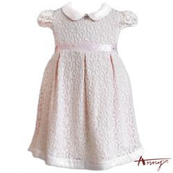 Annys精緻公主系翻領花花蕾絲緞帶洋裝*6508粉