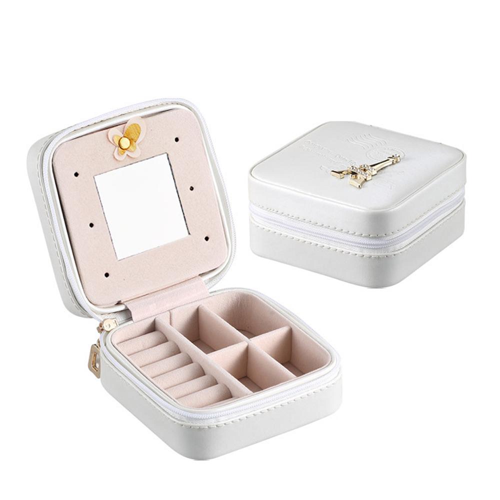 梨花HaNA 閨蜜的旅行攜帶型皮革飾品珠寶收納盒