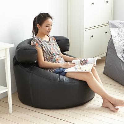 懶骨頭師傅-黑金剛懶骨頭沙發椅/皮革沙發/單人椅