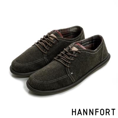 HANNFORT COZY可機洗兩穿式後踩氣墊休閒鞋-男-悠遊咖8H
