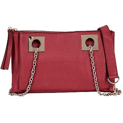 SEE BY CHLOE HAILEY 紅色壓紋牛皮鍊帶包(展示品)