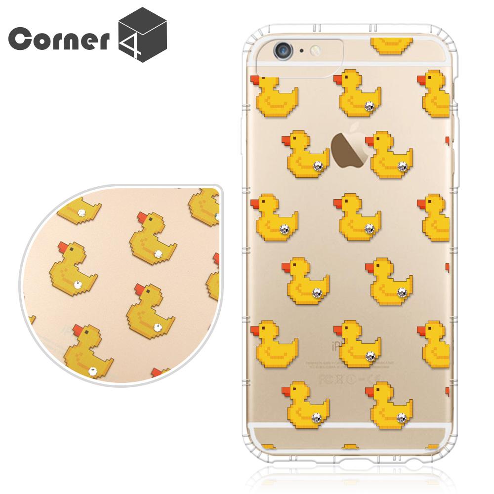 Corner4 iPhone6s / 6 PLUS 5.5吋 奧地利彩鑽防摔手機殼-小鴨鴨