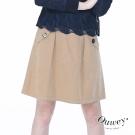 OUWEY歐薇 休閒風口袋裝飾A字裙(可)
