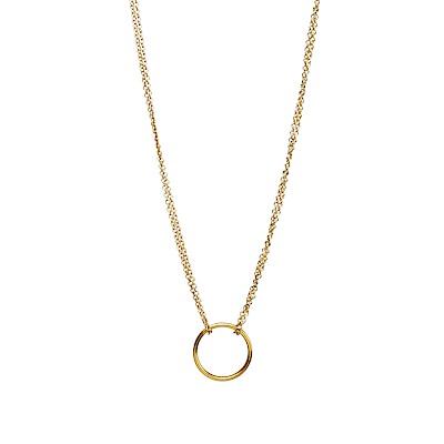 【Dogeared】美國品牌 小金色圓形圓滿 雙鍊項鍊