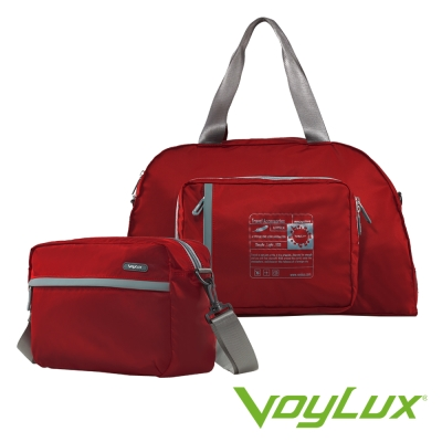 Voylux伯勒仕-百貨專櫃-魔術收摺系列-兩用摺疊側背包 / 旅行袋-紅色