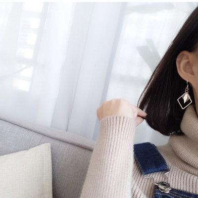 ACUBY-V臉菱型耳環