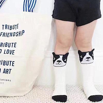 Baby unicorn 白色鬥牛犬中筒襪