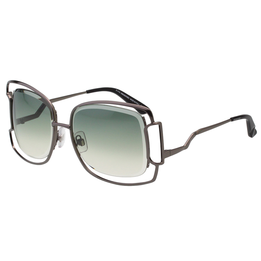 SWAROVSKI太陽眼鏡-造型方框-槍色-SW47