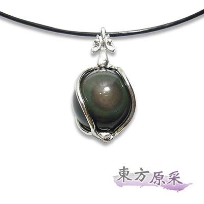 東方原采-防小人彩虹黑曜石球珠項鍊