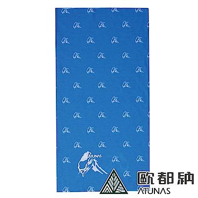 【ATUNAS 歐都納】魅力台灣涼感頭巾/領巾/單車/爬山運動配件A-A1624寶藍