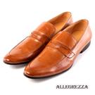 ALLEGREZZA.義式經典小牛皮樂福鞋-焦糖色