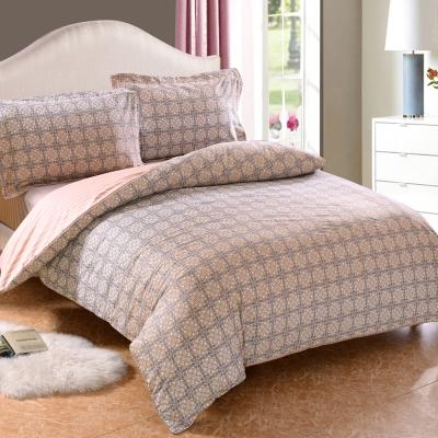 HOYACASA伊格斯 加大四件式抗菌精梳棉兩用被床包組