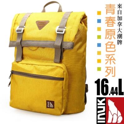 【加拿大 INUK】青春原色 潮牌人體工學避震背負後背包16.44L_黃色