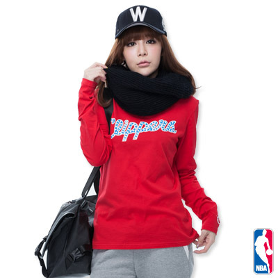 NBA-洛杉磯快艇隊圓點長袖T恤-紅(女)