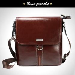 Sun peache 復古品味三線縫休閒側背方包-PBC6022