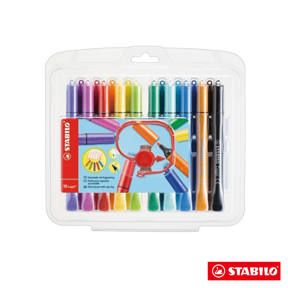 Stabilo 繪畫系 - Cappi 人體工學 彩色筆18色