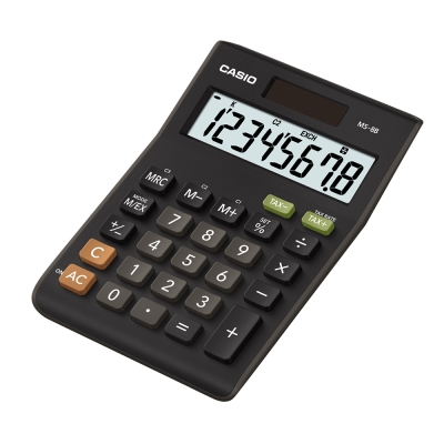 CASIO卡西歐 商用桌上型8位數計算機  MS-8B