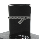 【ZIPPO】美系~超質感Black Ice Zipper~黑冰拉鍊打火機