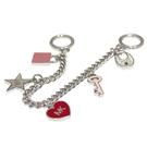MICHAEL KORS KEY CHARMS 愛心鑰匙鎖頭金屬墜飾包包吊飾-芭蕾粉