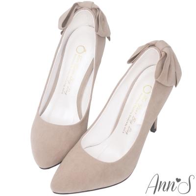 Ann'S甜美回眸-後跟立體大蝴蝶結細跟尖頭高跟鞋-灰