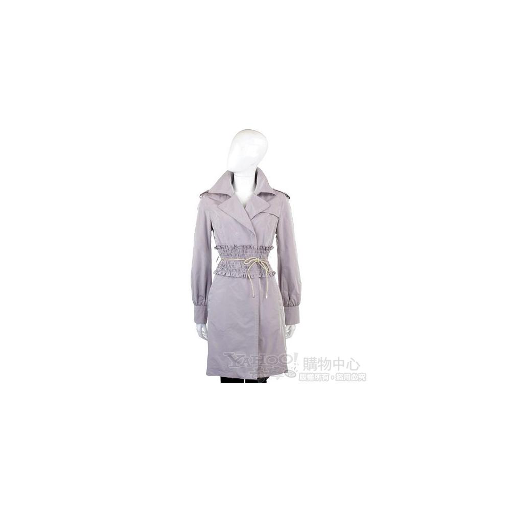 SCERVINO 紫芋色腰綁帶風衣外套
