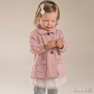 Dave Bella 粉色口袋蝴蝶結長袖外套