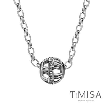 TiMISA 古典美 純鈦串飾項鍊(M02O)