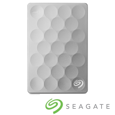 Seagate Backup Plus Ultra Slim 2TB 2.5吋行動碟-白金