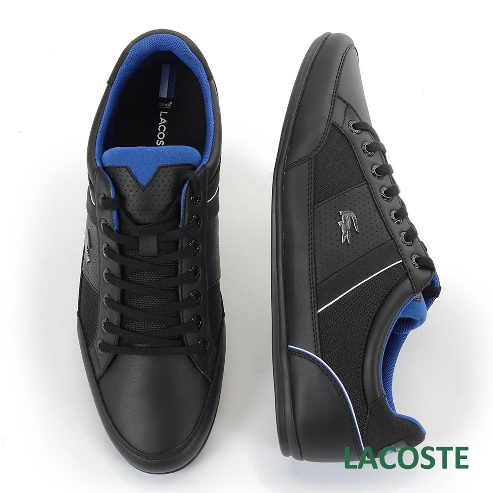 LACOSTE 男用運動休閒鞋-黑/藍
