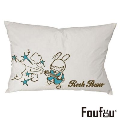 Foufou 抱枕套-Rock Power 白色(單人枕套)
