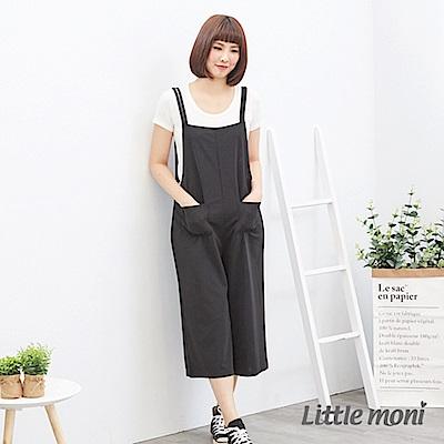 Little moni 吊帶連身褲(大人) 黑色