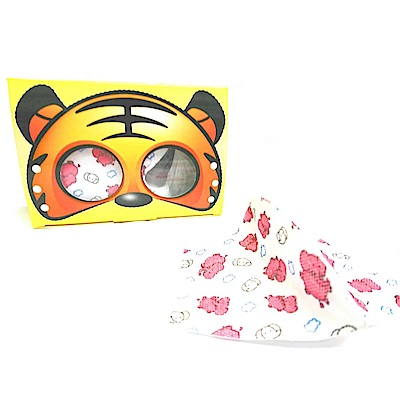 台灣康匠-兒童3D立體防塵口罩-大象(50片/盒),適用5~10歲孩童