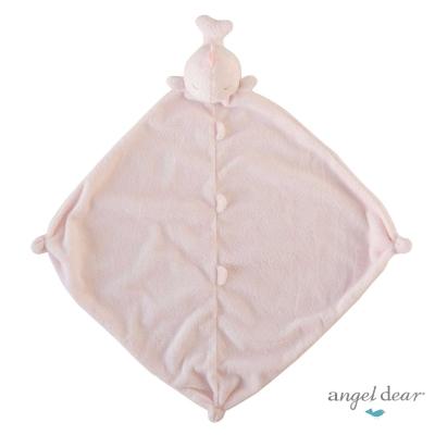 美國 Angel Dear 動物嬰兒安撫巾 (粉紅鯨魚)