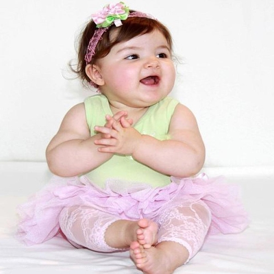 Baby Bella Maya 小女童粉色蕾絲內搭褲