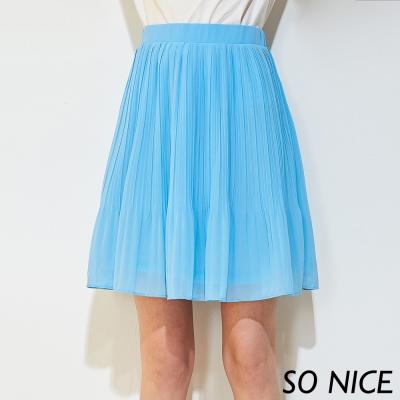 SO NICE俏麗簡約百褶短裙