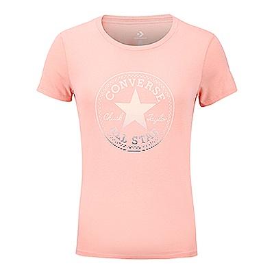 CONVERSE-女休閒短T恤10006832-A03-淺珊瑚