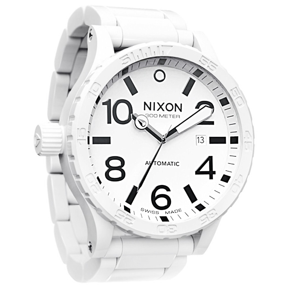 NIXON The ceramic 51-30 陶瓷機械腕錶-白/51mm product image 1