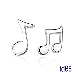ides愛蒂思 日韓風潮個性時尚925純銀耳環/音符