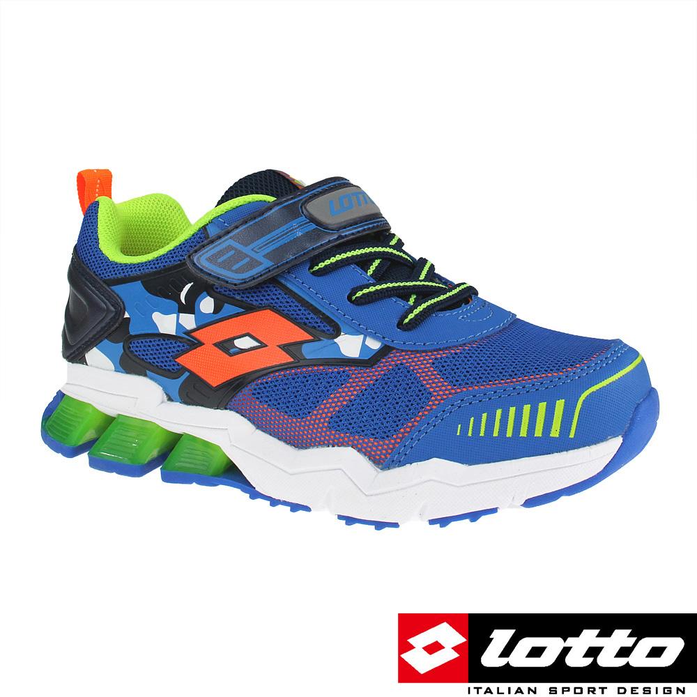 LOTTO 義大利 男中童 G MAX避震彈力跑鞋(藍)