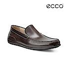 ECCO CLASSIC MOC 2.0 暖棕色莫卡辛鞋-咖啡