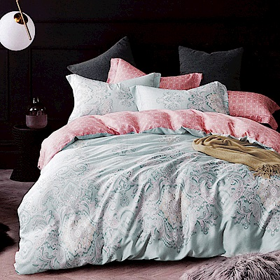 Lily Royal 60支頂級天絲 四件式兩用被床包組 加大 莉茲足跡