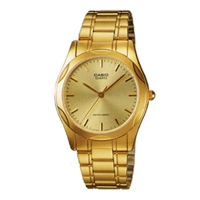 CASIO 時尚輝煌指針紳士錶(MTP-1275G-9A)-金/38mm