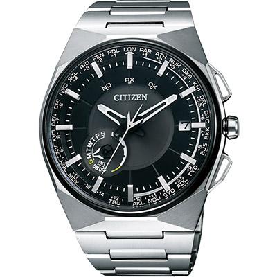 CITIZEN Eco-Drive 衝鋒衛星對時鈦旗艦腕錶(CC2006-53E)-黑/45mm