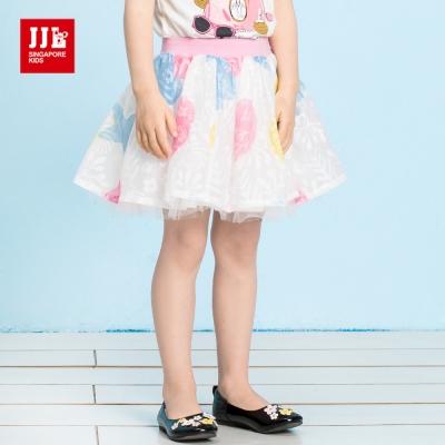 JJLKIDS  夢幻繽紛霓彩蕾絲紗裙(白色)