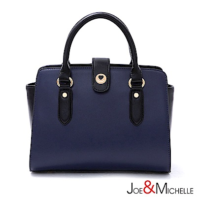 J&M 真皮凱瑟琳法式簡約兩用包 注目藍