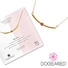 Dogeared 粉紅蛋白石平衡骨項鍊 微笑平衡骨金色項鍊 附原廠盒