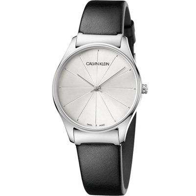 Calvin Klein Classic 經典設計款時尚錶(K4D221C6)白/32mm