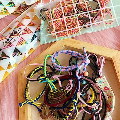 Hera 赫拉 超萌驚喜收納袋裝髮圈20入組-混色裝